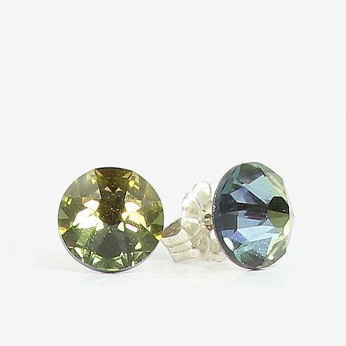 7mm Swarovski Crystal Stud Earrings - Tabac
