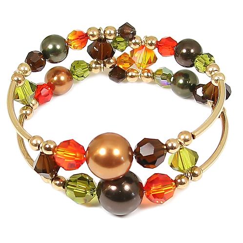 Autumn Leaf Adele Cuff Bracelet