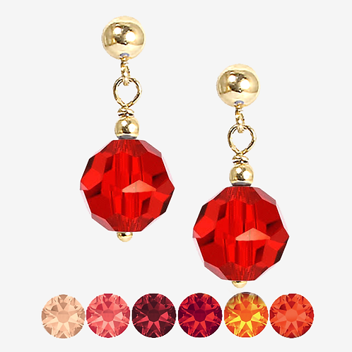 Red & Orange Drop earrings