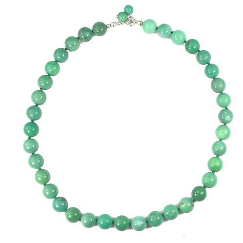 Australian Green Grass Agate necklace
