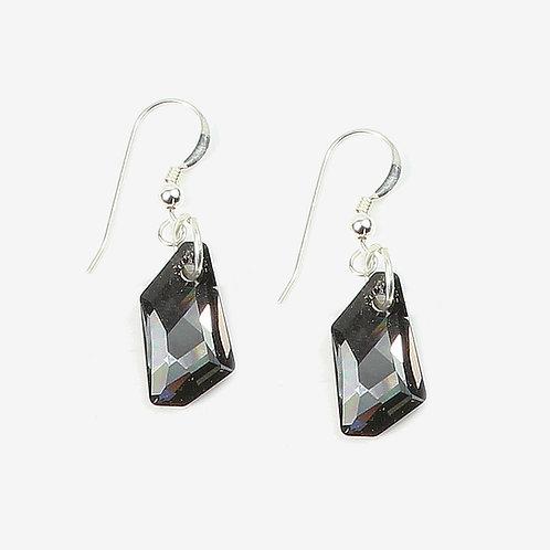 Swarovski De Art Crystal earrings - Silver Night