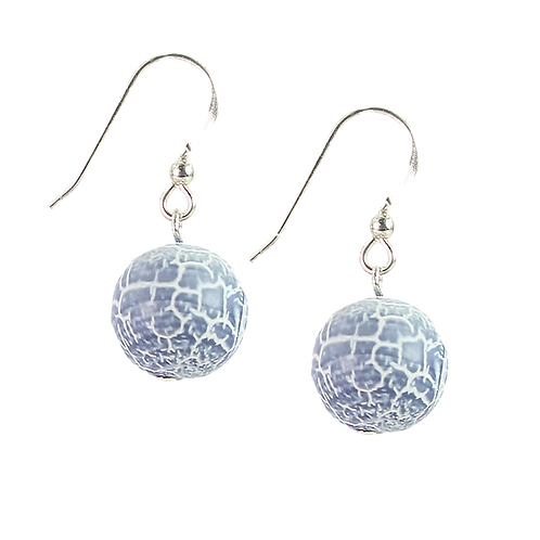 Antique Dyed Blue Agate earrings