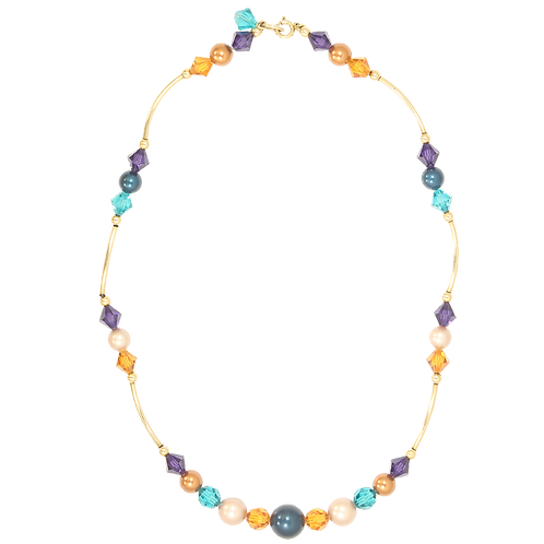 Autumn Mix Curved Link necklace