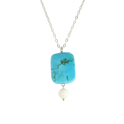 Howlite and White Opal pendant