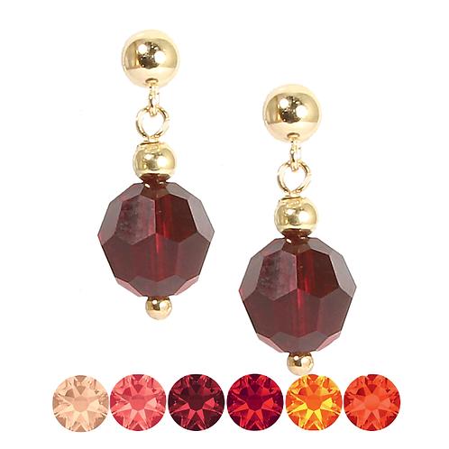 Red & Orange Drop earrings