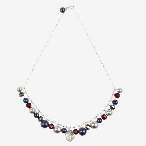 Dark Winter Blues Charm necklace