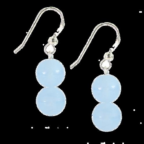 Blue Frosted Jade earrings