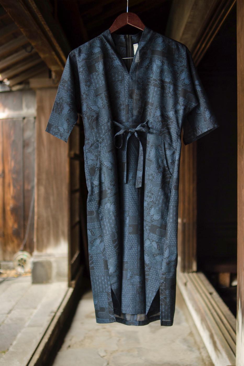 kimonofuku | キモノフク(着物リメイク)ワンピースD01TtN-0026