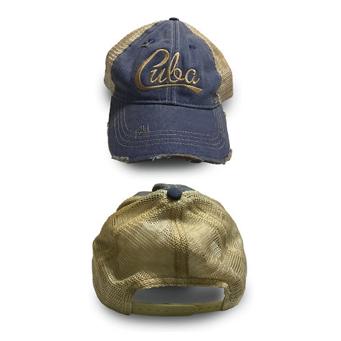 HBH01 Blue Vintage Baseball Cap