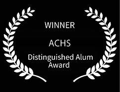 Winner ACHSl Distinguished Alum Garland.