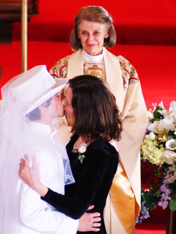 """""""I now pronounce you -  woman and husband. You may kiss the groom."""""""