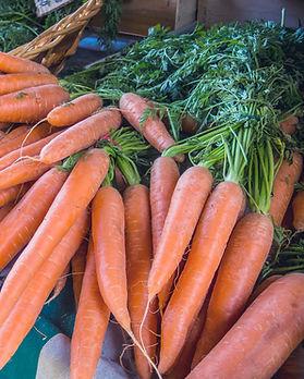 Les carottes au marché