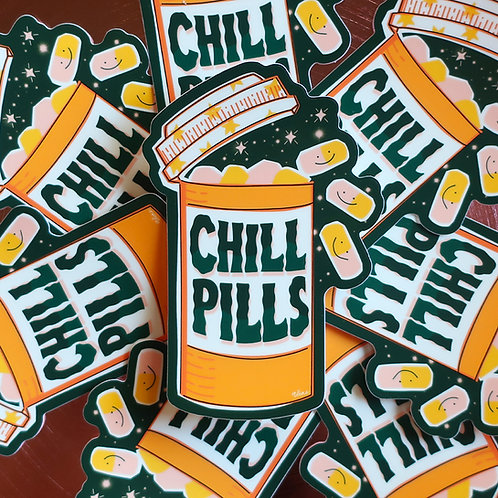 Chill Pill Sticker