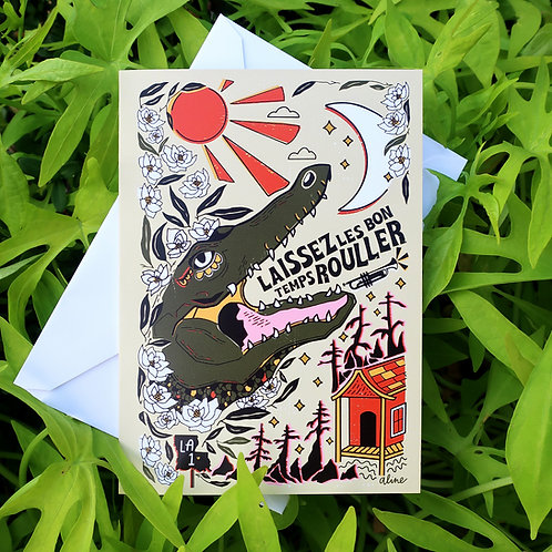 Laissez Les Bon Temps Rouller Greeting Card