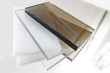 Solid Polycarbonate Sheet. Brown, white, transparent. Acrylic Plastic glass.jpg