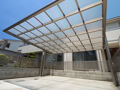 Residential roof garage polycarbonate