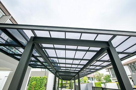Transparent Acrylic Roof Sheet Closeup.j