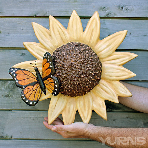 """Garden Steward"" - Sunflower with Monarch"