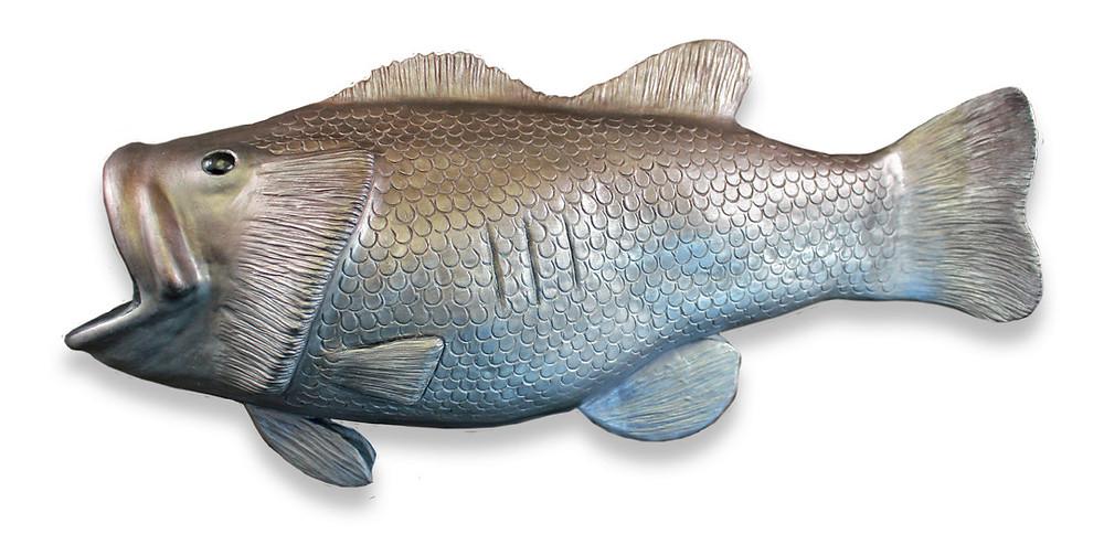 Bass Fish Cremation Urn Sculpture