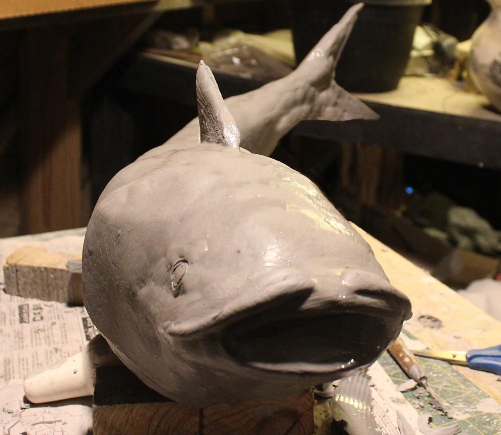 Catfish Cremation Urn Sculpture