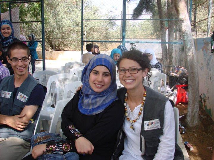 My wonderful interpreter in Palestine.