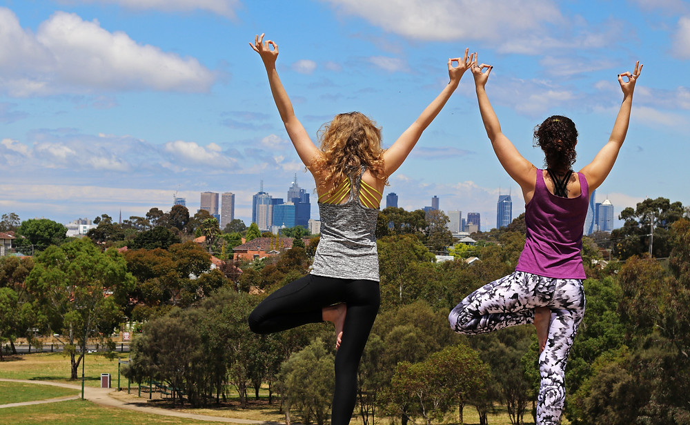 Yoga in Melbourne. A magnificent view!