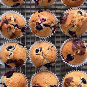 Dark Chocolate & Blueberry Muffins | Baking Recipe