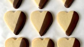 Valentine's Day Chocolate Dipped Vegan Shortbread Recipe | Cookie Recipe