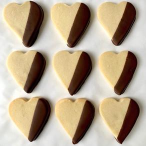 Valentine's Day Chocolate Dipped Vegan Shortbread Recipe   Cookie Recipe