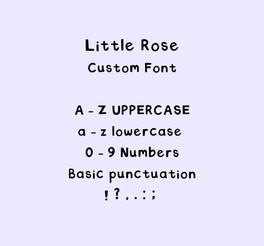 Custom font for Little Rose.jpg
