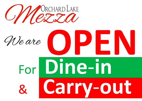 orchard lake mezza open for dine in and