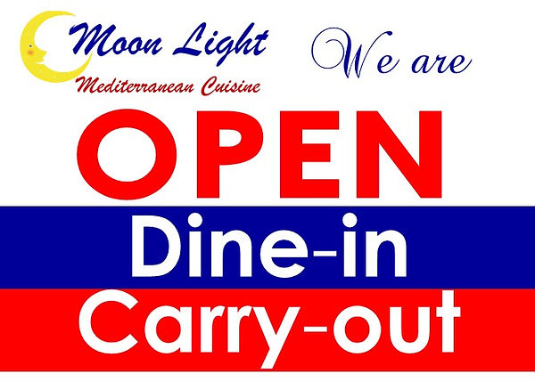 moonlight open for dine in and carry out
