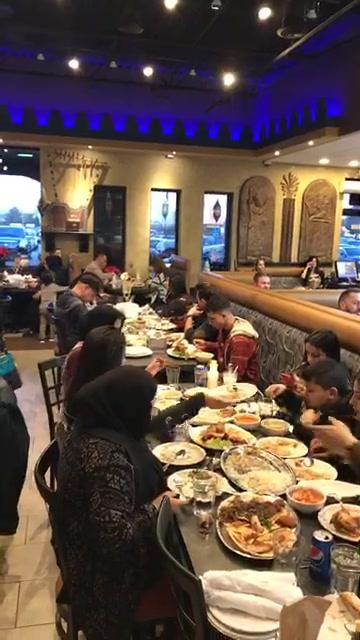 الجاليه العراقيه  من بيت العراق مطعم عشتار