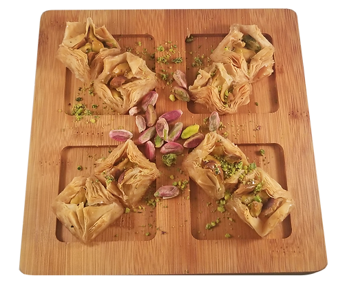 Sugar Free Mini Bird Nest Baklava Pistachio Half Tray