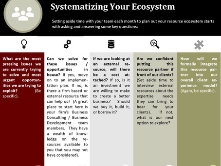 Systematizing Your Ecosystem