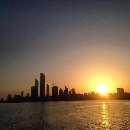 An Abu Dhabi sunrise