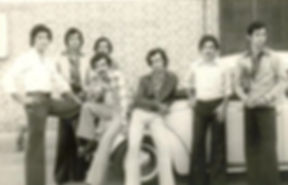 Just a couple of cool kids, University of Baghdad, sometime in the seventies (my dad has his knee up