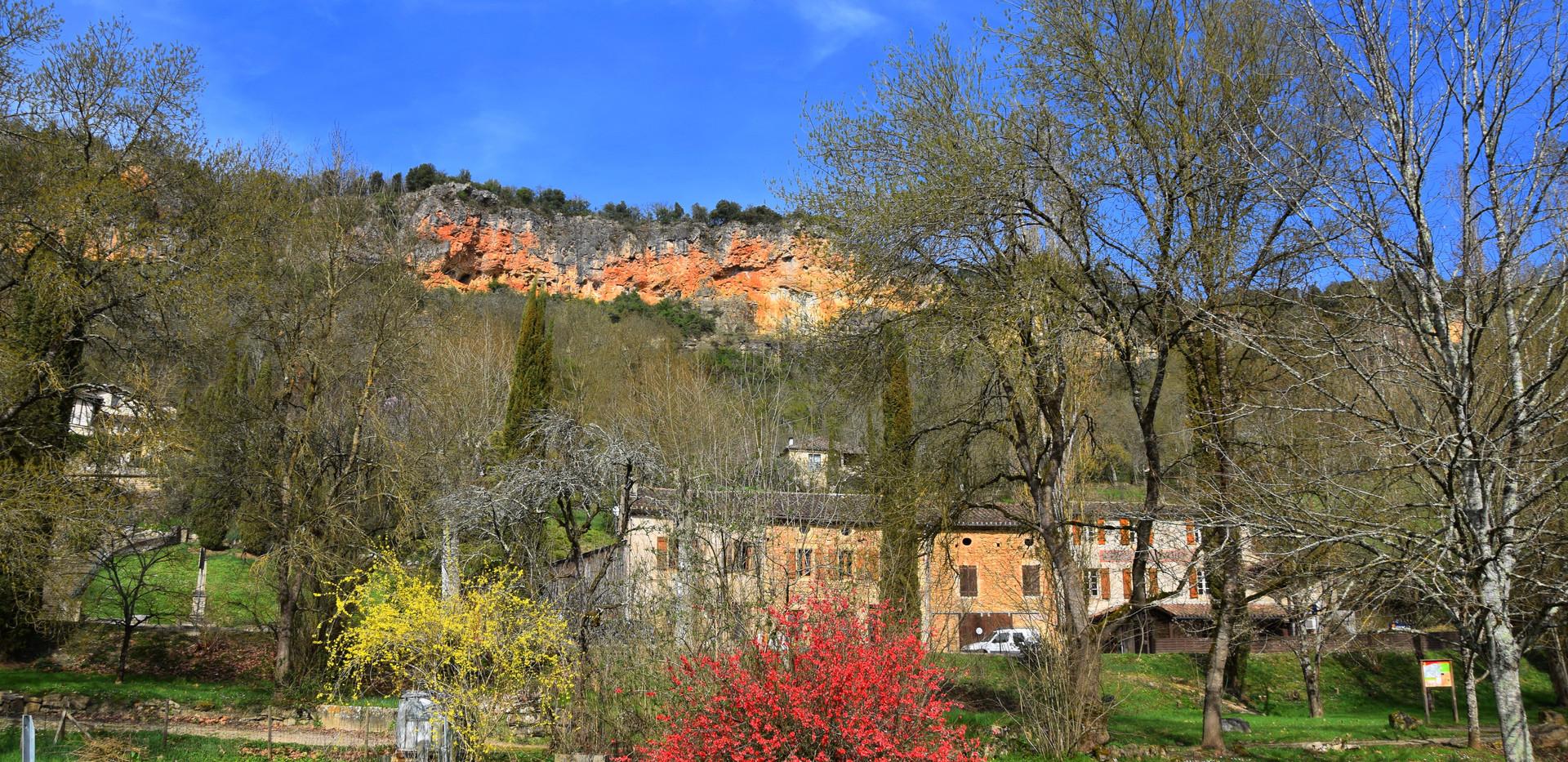 Uitzicht op Larroque.