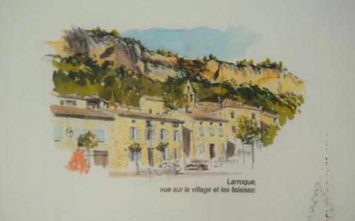 Afbeelding van het uitzicht van Larroque.