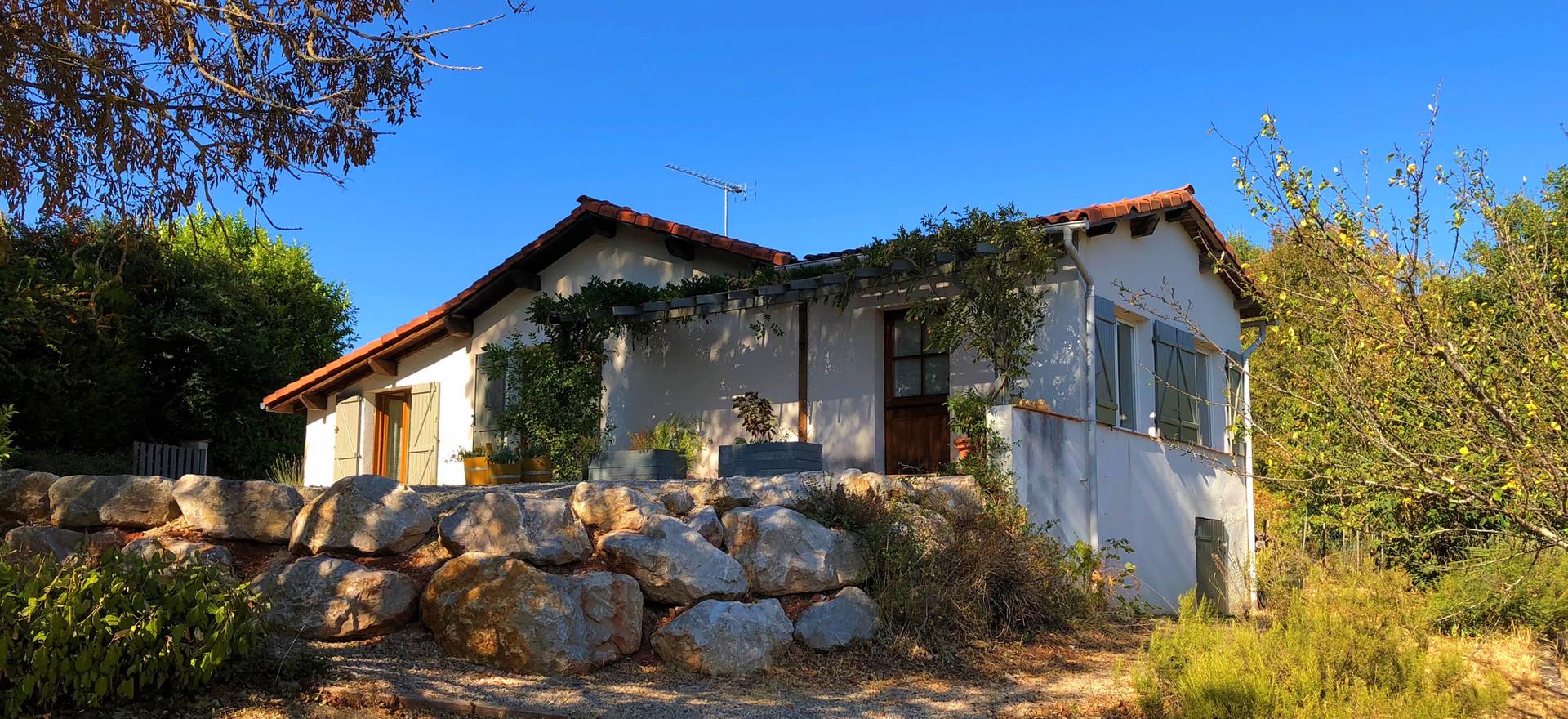 Het huis gelegen in Puycelsi
