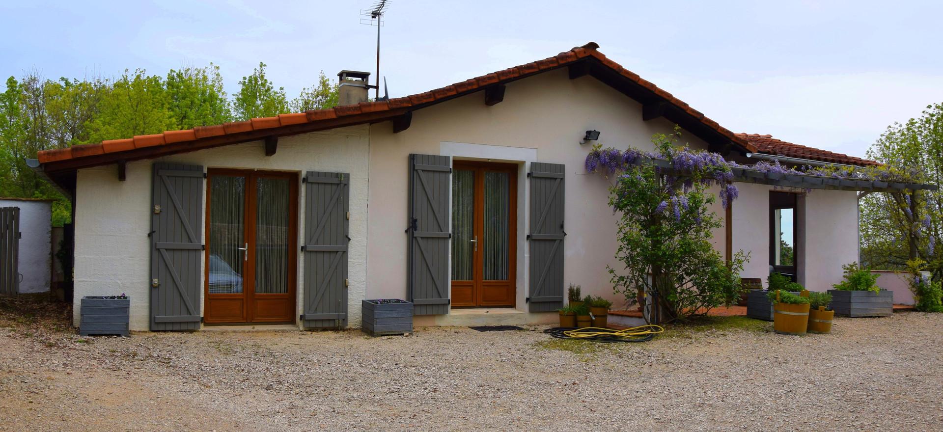 Het huis gelegen in Puycelsi.
