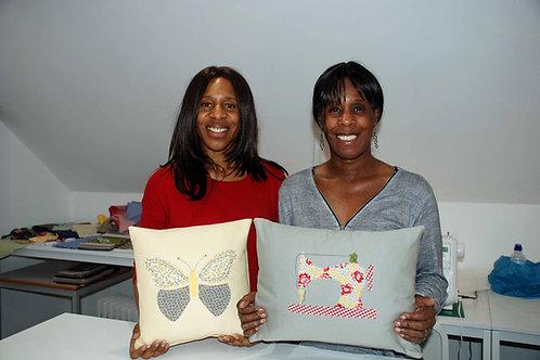 Creative applique cushion workshop