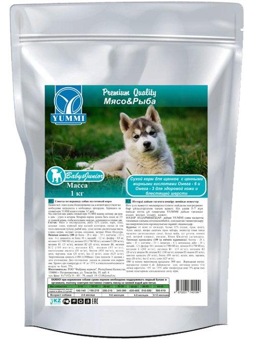 Yummi Premium для щенков «Мясо& Рыба» 1кг