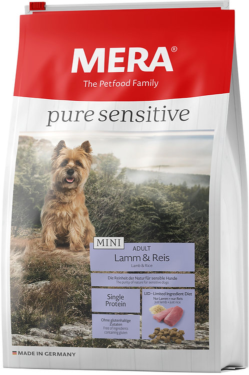 Pure Sensitive MINI Adult Lamm&Reis для взр. собак малых пород (ягненок и риc)