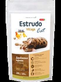 Estrudo Village Cat (Деревенская курочка) для кошек (крас. шерсть) 1,5кг