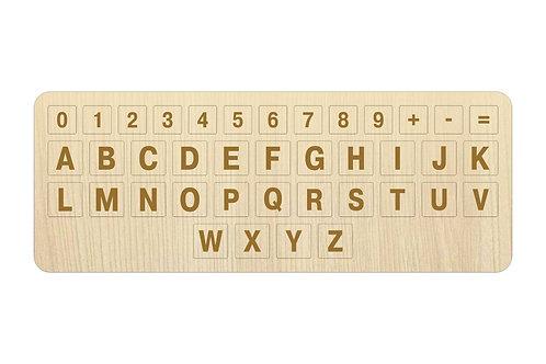 Английский алфавит-сменная клавиатура ноутбука