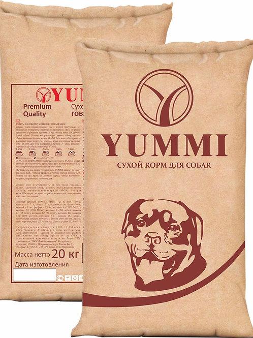 Yummi PREMIUM quality Говядина 15кг