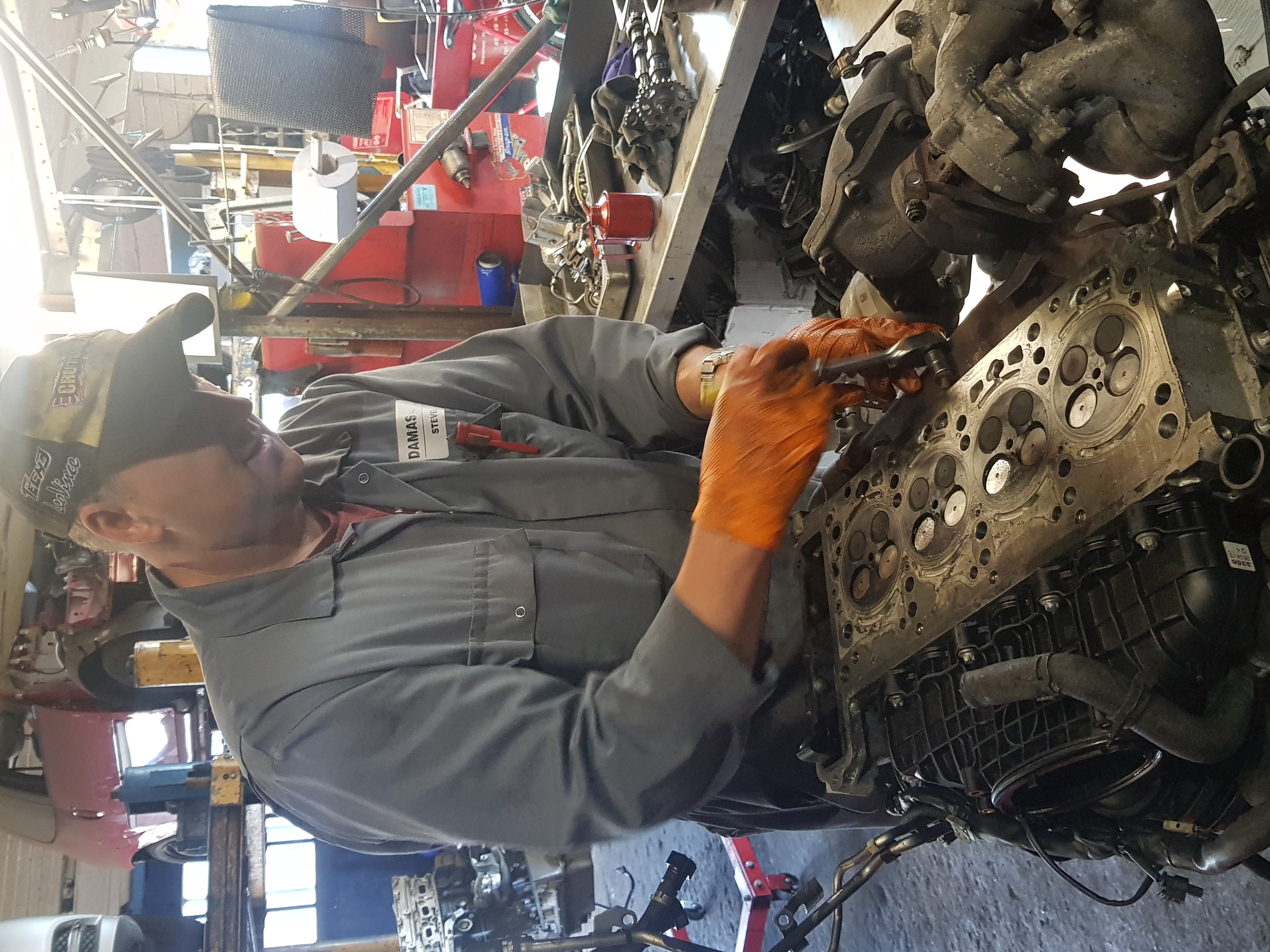 Steve working on an engine
