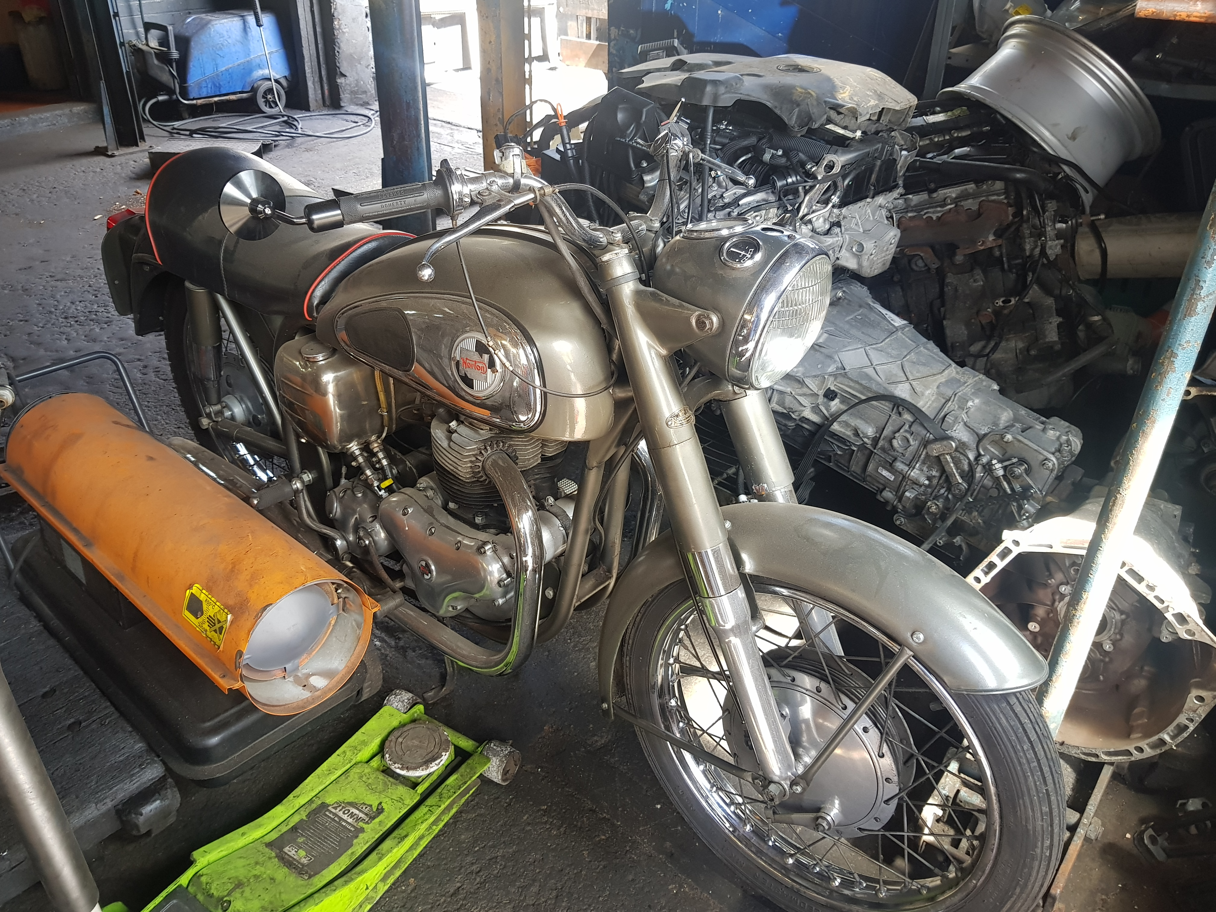 Motorbike restoration in progress...