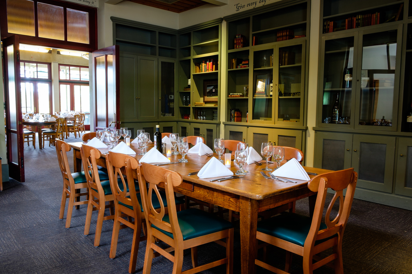 The Mark Twain Library at CAMPS Restaurant